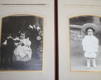 Antique Leather Bound Family Photo Album