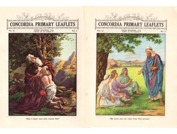 vintage sunday school bible lessons concordia primary leaflets
