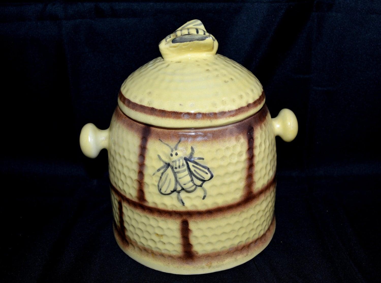 Vintage bee hive cookie jar ceramic treat jar house of - Beehive cookie jar ...