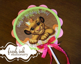 The Lion King Simba Centerpiece or Cake Top
