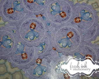 Personalized Sofia the First Stickers