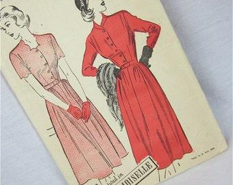 Vintage 40s Dress Sewing Pattern, Advance, 4788, Uncut