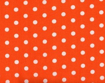Orange Polka Dots, Robert Kaufman, Pimatex Basics, 1 yard Fabric, 03017