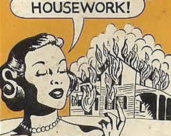 Well That Takes Care of the Housework funny kitchen towel