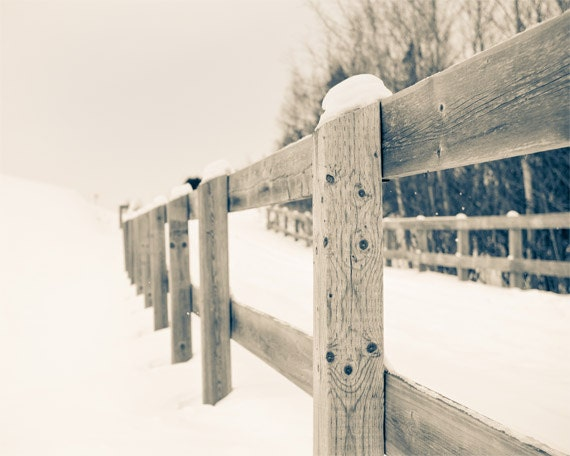 country rail fence winter - photo #4
