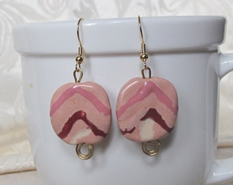 Kazuri African Earrings Hand Made Ceramic Trade Beads