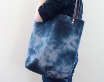 SALE! Tote Carryall Weekender Bag Hand Dyed