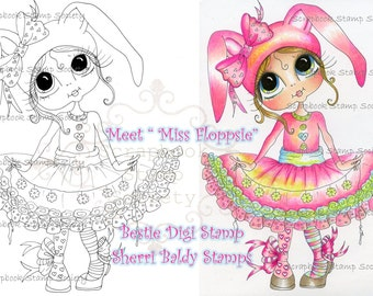 INSTANT DOWNLOAD Digital Digi Stamps Big Eye Big Head Dolls Digi   Besties Miss Floppsie By Sherri Baldy