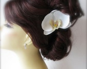 Orchid Hair Clip, Phalaenopsis, Wedding, Bridal Hair Accessories,  Floral Hair Clip or Comb, Hair Veil, Hair Pin, Beach Weddings, Summer Hai