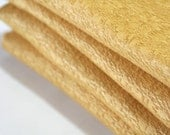 """Vintage Pair of Insulated Curtain Panels Golden Rod Yellow Gold Hollywood Regency Retro shorter 27"""" length textured polyester blend"""