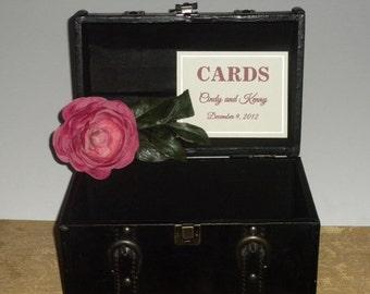 Wedding Card Holder Vintage Inspired Trunk