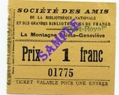 Digital Download-Society of Friends-Vintage Ticket from France