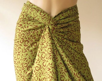 Batik Pareo, Sarong, Beach cover up D