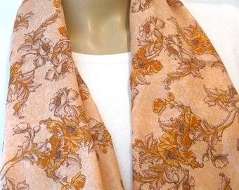 SALE Scarf, Silk Scarf, Flower Scarf, Head scarf