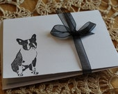 Set Of 10 Boston Terrier Note Cards