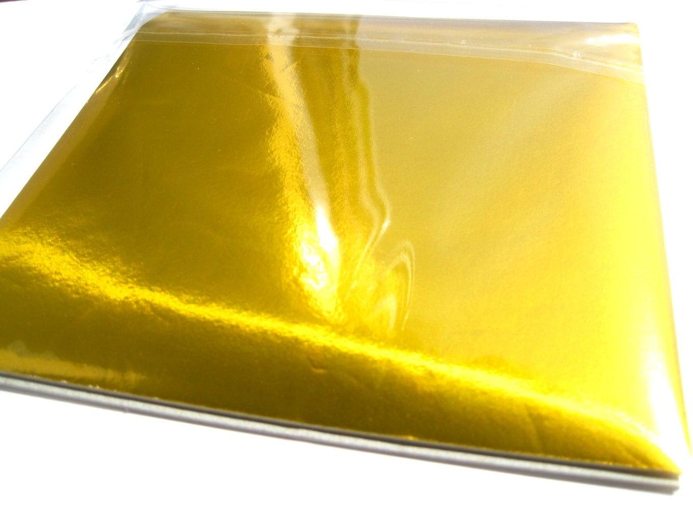 Metallic Gold Origami paper craft supplies shining gold foil