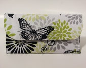 Cash Budget Envelope System with Dividers, Coupon Holder -for use with the Dave Ramsey System -Glamour Butterfly- READY TO SHIP