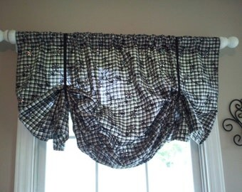 Custom Balloon Valance You Choose Color and Pattern