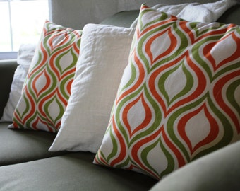 Groovy Tangerine Pillow Cover Set 18x18
