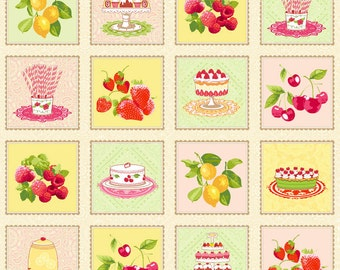 Henry Glass Fabric - Delicious Wishes - Assorted Treats - PANEL Fabric - Novelty