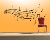 Music notes wall decal- sheet music wall decal