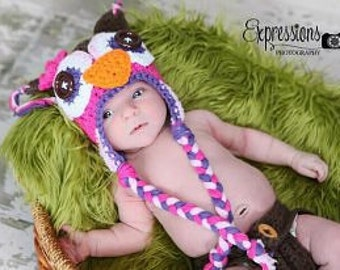 owl hat, baby hat, crochet owl hat, newborn baby hat, newborn hat, newborn girl