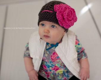 baby hat, girls hat, baby girl hat, little girls hat, crochet baby hat, newborn hat