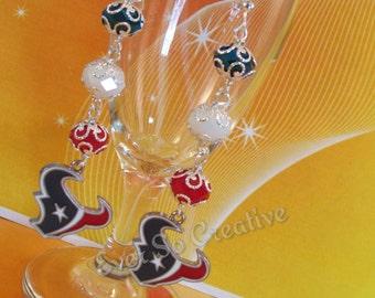 Houston Texans Silver Wrapped Earrings (OOAK)