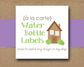 Made to Match WATER BOTTLE Labels - DIY Printable - Personalize and Coordinate with Any Design in My Shop