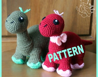 Crochet dinosaur - Pattern in PDF