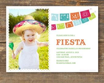 Fiesta Photo Invitation Printable
