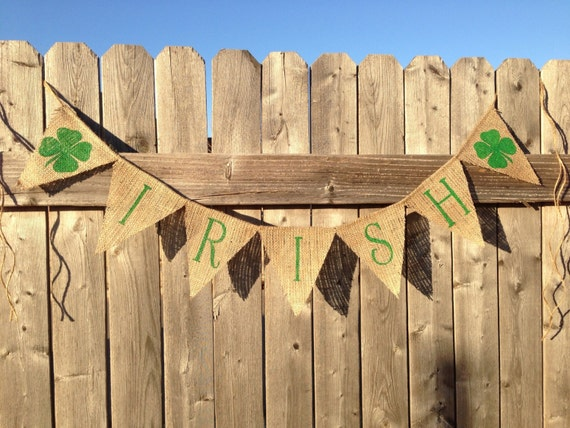 Items similar to st patrick 39 s day decor fighting irish for Irish decorations for home