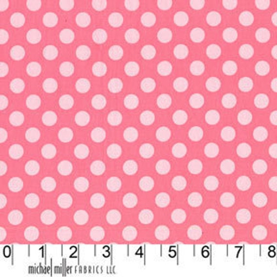 Michael Miller Ta Dot in Petal Pink - 1 yard, Additional Yardage Available CX-1492)