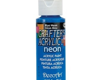Neon Blue Acrylic Paint (2oz)