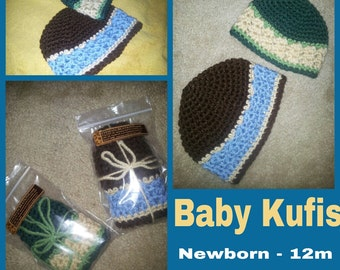 Khaleel Baby KUFIS - crochet kufi-style baby boy beanie  - Made To Order