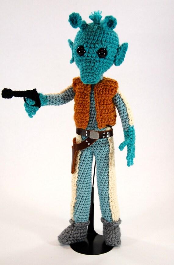 Schemi Amigurumi Star Wars : Greedo Star Wars Amigurumi Crochet Pattern by ...