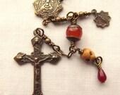 Bronze Single Decade Pocket Rosary