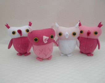 Sweetheart owl, Valentine Owl,  Pink girly owl, nursery decor owl
