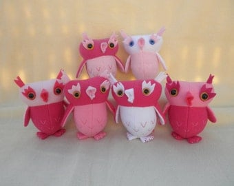 Owl, Sweetheart Owl, pink power owl, girly owl, nursery decor