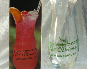Pat O'Brien's Hurricane Glass with Original Box