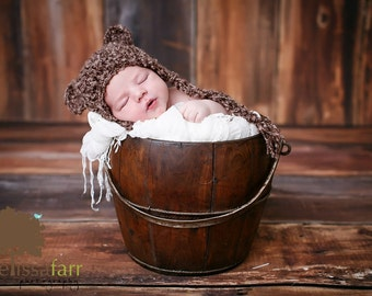 Baby Girl hat/ Baby boy hat/ Bear hat/ Infant bear hat/ newborn bear hat/ animal hat
