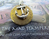 Large Dog Tag - Custom Pet Tag - Collar Tag - Pet Tag - Anchor Charm - Personalized Pet - Pet Accessories - Dog Tag