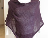 Purple poncho,shawl,slight,blend wool,very versatile,accessory