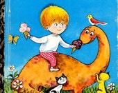 On Sale - My Little Dinosaur -  Vintage Little Golden Book - Australian Edition - 1970s