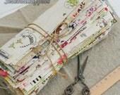 """Big Sale--10 Pieces bundle Cotton Linen Fabric Cloth -DIY Cloth Art Manual Cloth Set 8 x8Inches """" Each (20 x 20CM) (C327-S)"""