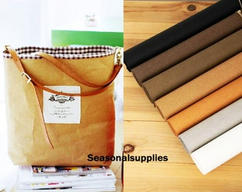 "Fat querter Kraft Paper Fabric,Craft,Imported From Germany,7 Kinds For Choice,Sewing,Plain 18'X30"" (45 x 75cm) (G20)"