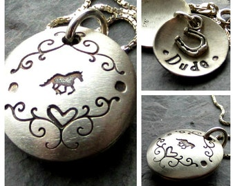 Personalized Locket-Horse Locket-Equestrian Jewelry