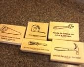 """Stampin Up """"Totally Tool"""" Wood Mount Stamp Set"""