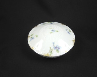 Limoges Floral Lidded Bowl, Mint Condition