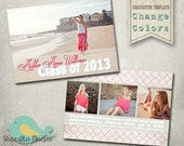 Graduation Announcement PHOTOSHOP TEMPLATE -  Senior Graduation 25